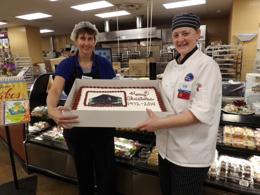 Thank you to our local Madeira Kroger for donating the annual Christmas dinner cake.