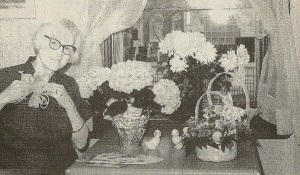 Miss Hosbrook delights in flowers.  These were gifts for Easter 1975.