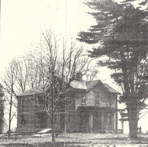 A house on the Hosbrook farm, lived in by Daniel and later by his son Homer.  The house was located on what is now the northeast corner of Miami Hills Drive and Hosbrook Road.