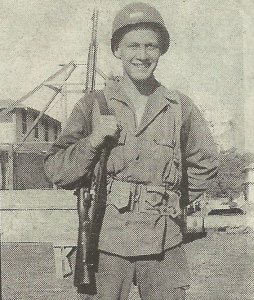 Russell DeMar at Camp Wolters, Texas in 1944 during basic training