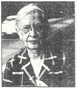 Pictures of Nelle Hosbrook are almost non-existent. This one, as she walked in front of Madeira's library, was provided by Drucilla Bain.