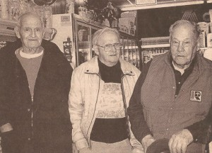 "Dick Valentiner, Dallas Burton, and Thomas ""Grandpa"" Elliott meet every morning at the Madeira Ameristop store to start their day with coffee, stories and friendship."