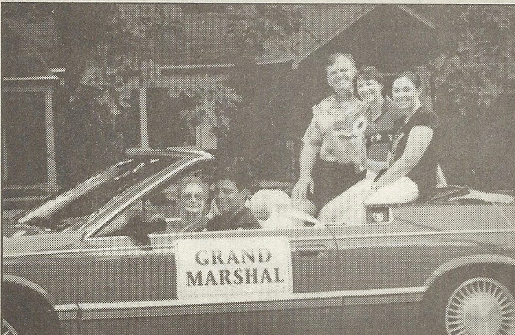 Dr. Michele Hummel, flanked by her husband, Michael, and daughter Kristin, was the grand marshal of the Independence Day parade this past July 4.